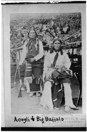 Primary view of object titled '[Acoyli and Big Buffalo, Indian Warriors]'.