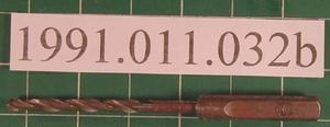 "[6 and 1/4"" Length 1/2"" Diameter Drill bit used in drill press.]"