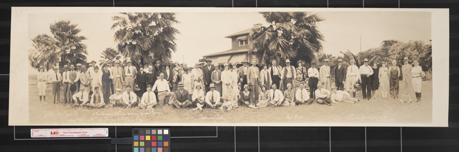 Southwestern Land Co. at the original William Jennings Bryan farm;  1,000,000 people in the Lower Rio Grande Valley in 5 years - excursion party                                                                                                      [Sequence #]: 1 of 1