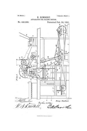 Apparatus for Baling Cotton.