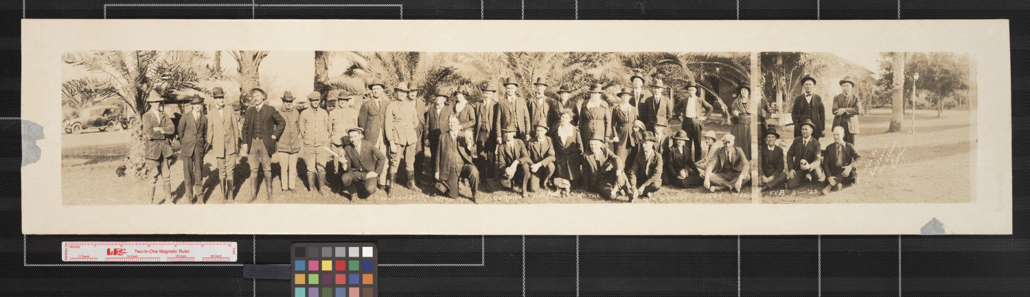 Southwestern Land Co. excursion party in the Lower Rio Grande Valley Tex.                                                                                                      [Sequence #]: 1 of 1