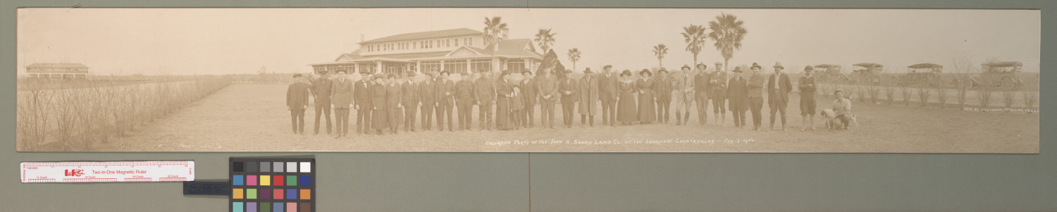 Excursion party of the John H. Shary Land Co. at the Shary Lake Country Club                                                                                                      [Sequence #]: 1 of 1