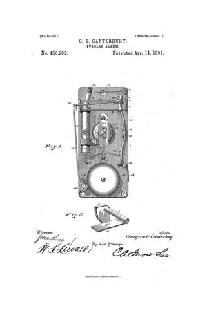 Primary view of object titled 'Burglar-Alarm.'.