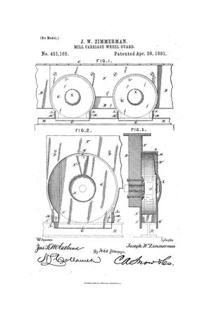 Primary view of object titled 'Mill-Carriage-Wheel Guard.'.