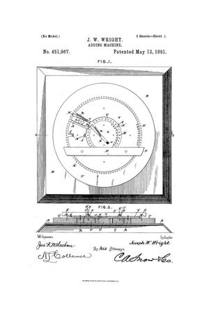 Primary view of object titled 'Adding-Machine.'.