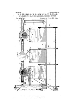 Primary view of object titled 'Apparatus for Handling and Cleaning Seed-Cotton.'.