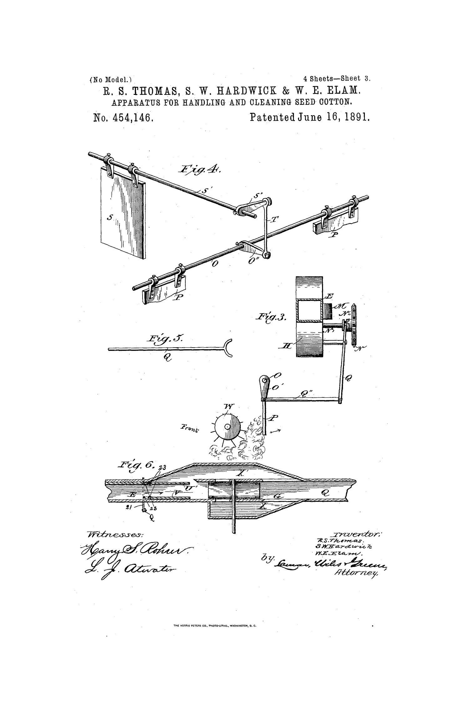 Apparatus for Handling and Cleaning Seed-Cotton.                                                                                                      [Sequence #]: 3 of 8