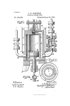 Primary view of object titled 'Vertical Steam-Pump.'.