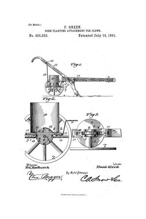 Primary view of object titled 'Corn-Planting Attachment for Plows.'.