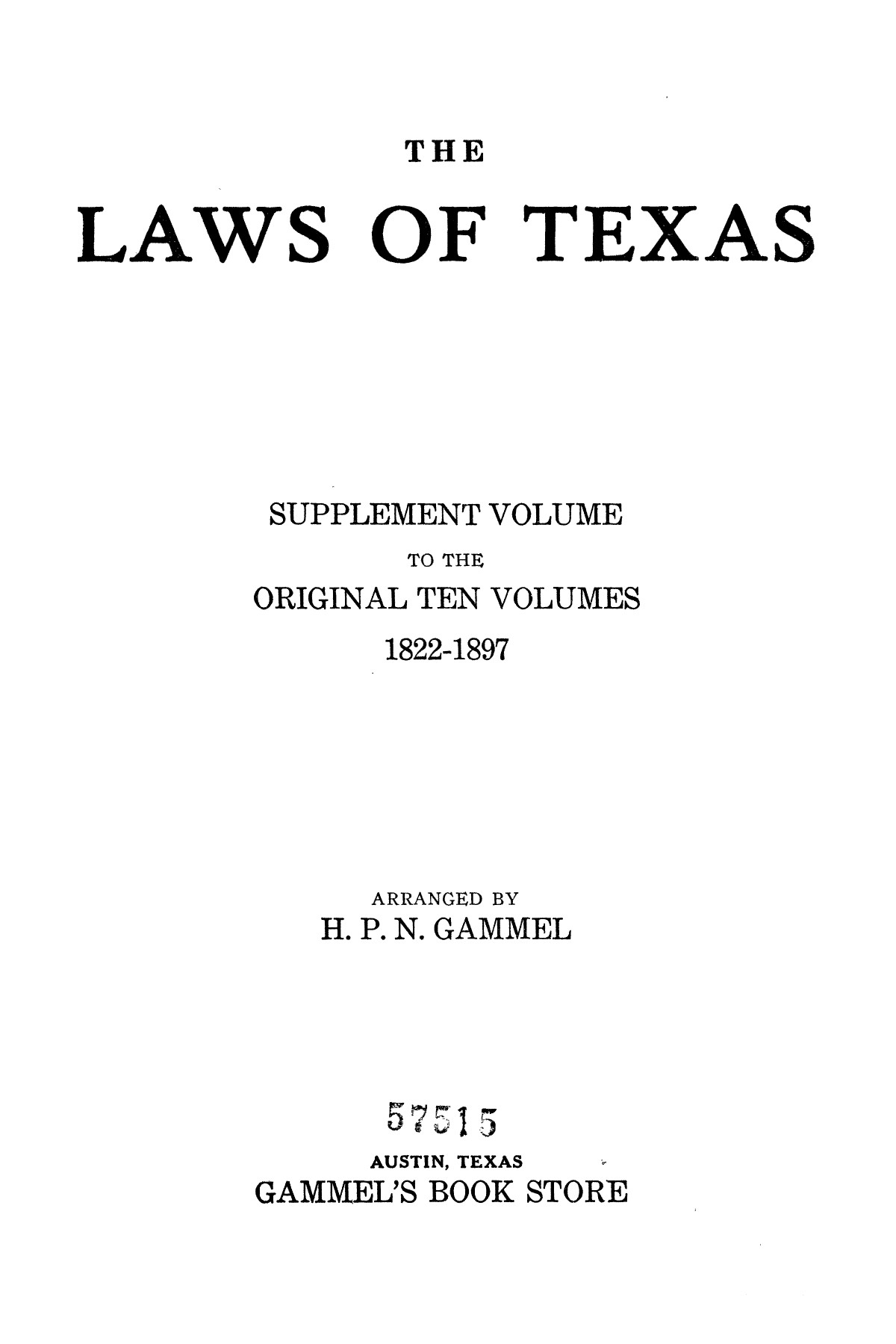The Laws of Texas, 1934-1935 [Volume 29]                                                                                                      [Sequence #]: 1 of 2086