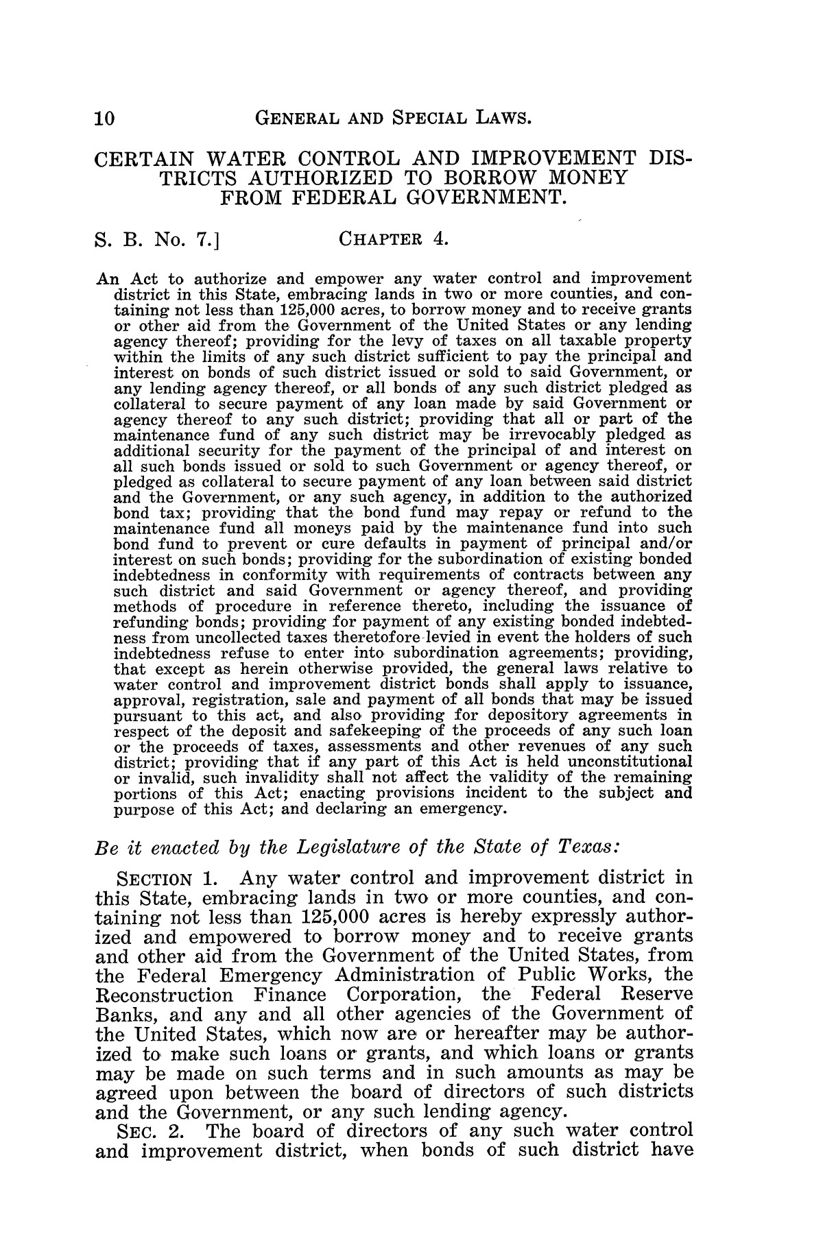 The Laws of Texas, 1934-1935 [Volume 29]                                                                                                      [Sequence #]: 20 of 2086
