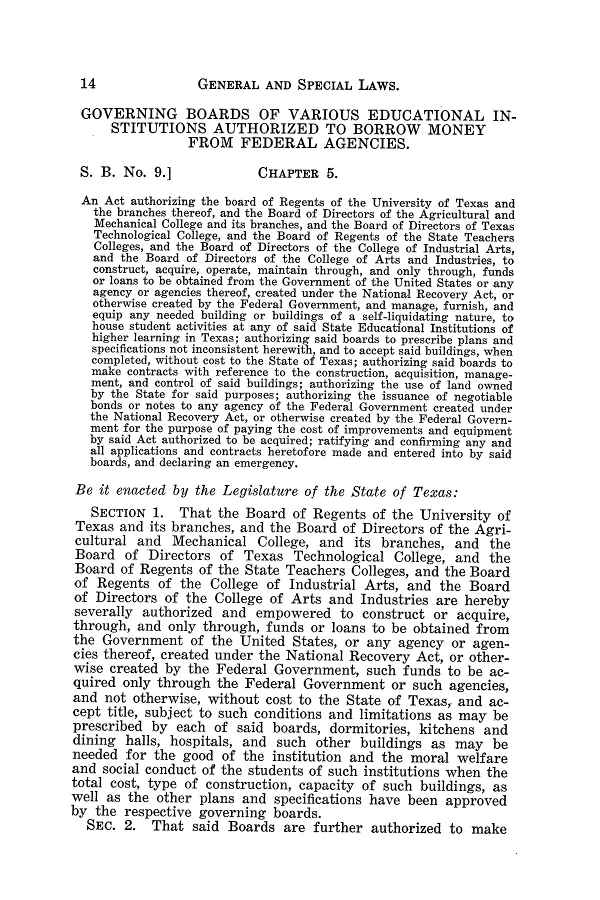 The Laws of Texas, 1934-1935 [Volume 29]                                                                                                      [Sequence #]: 24 of 2086