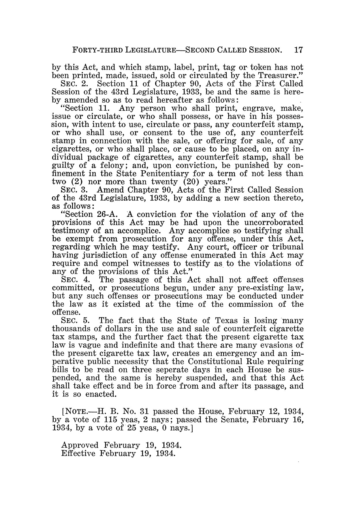 The Laws of Texas, 1934-1935 [Volume 29]                                                                                                      [Sequence #]: 27 of 2086