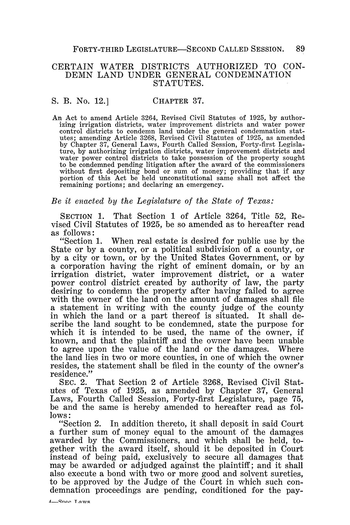 The Laws of Texas, 1934-1935 [Volume 29]                                                                                                      [Sequence #]: 99 of 2086