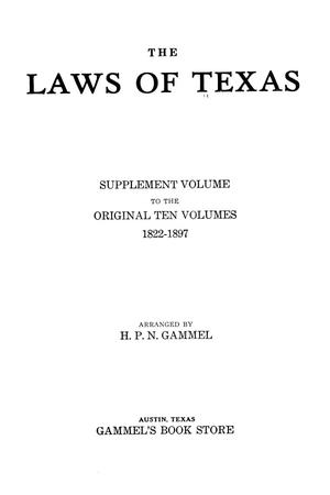 Primary view of object titled 'The Laws of Texas, 1931-1933 [Volume 28]'.