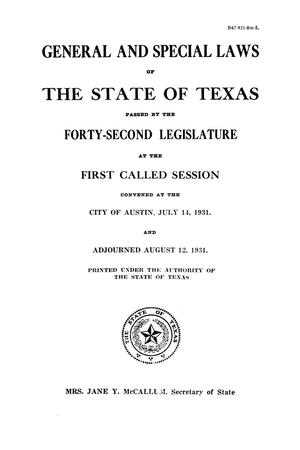 Thumbnail image of item number 3 in: 'The Laws of Texas, 1931-