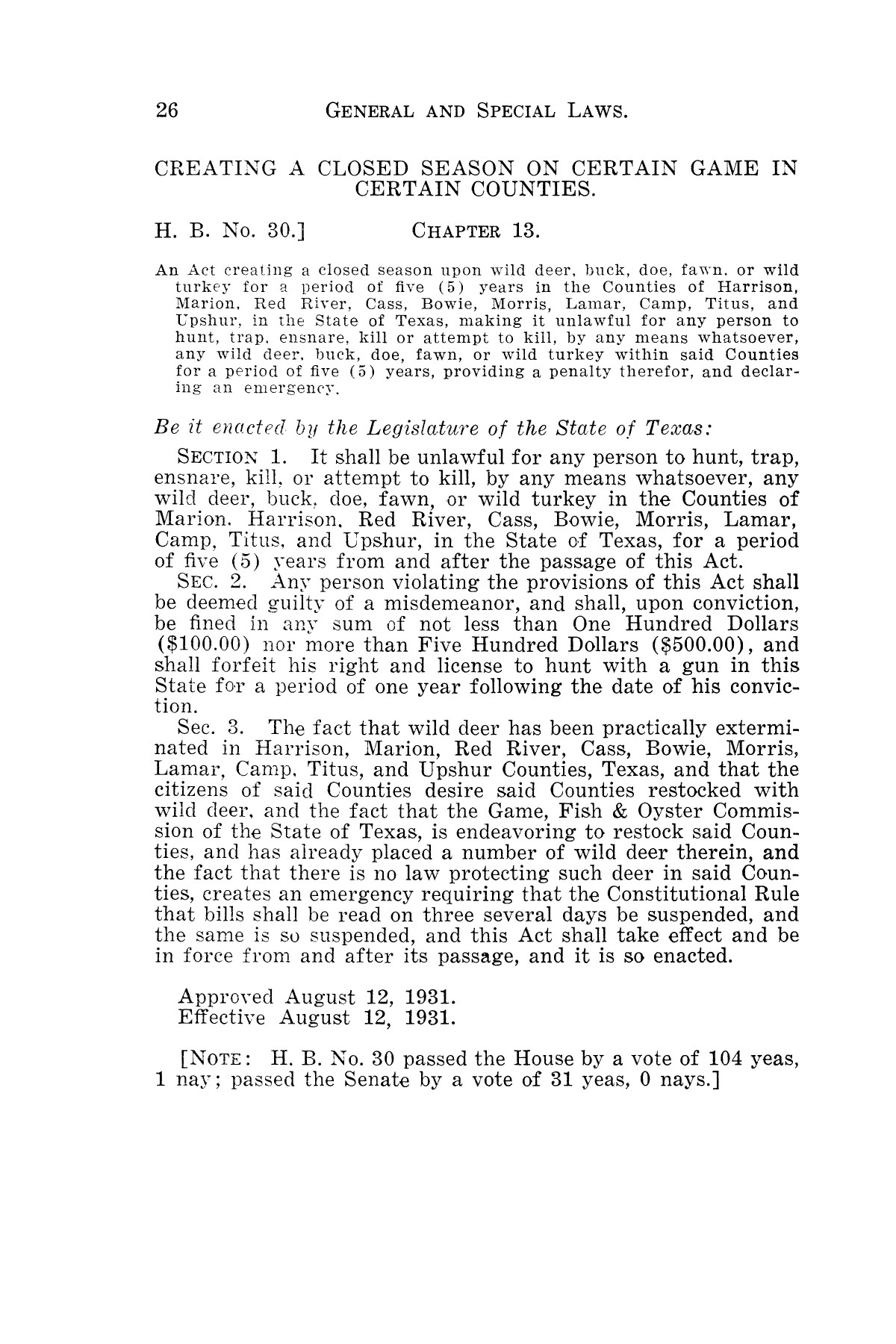 The Laws of Texas, 1931-1933 [Volume 28]                                                                                                      [Sequence #]: 34 of 2111