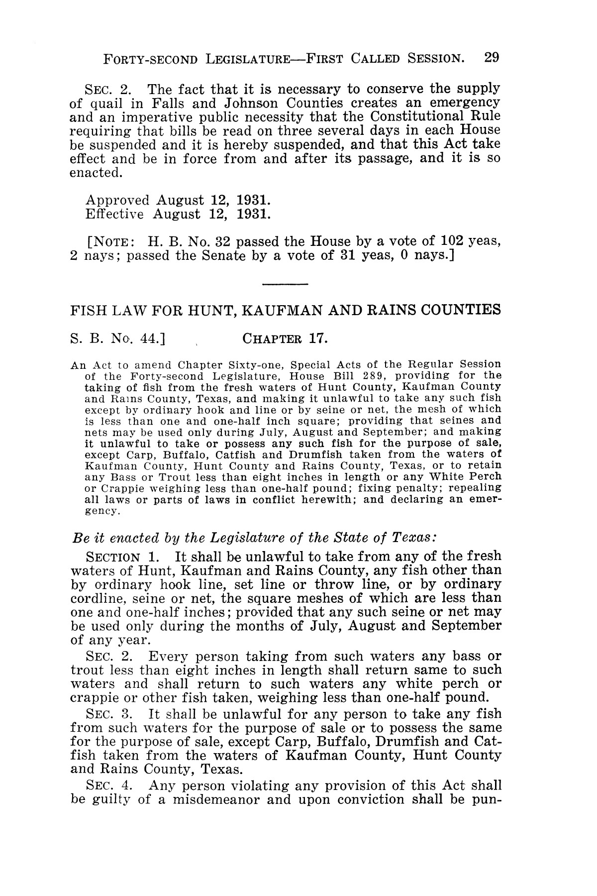 The Laws of Texas, 1931-1933 [Volume 28]                                                                                                      [Sequence #]: 37 of 2111
