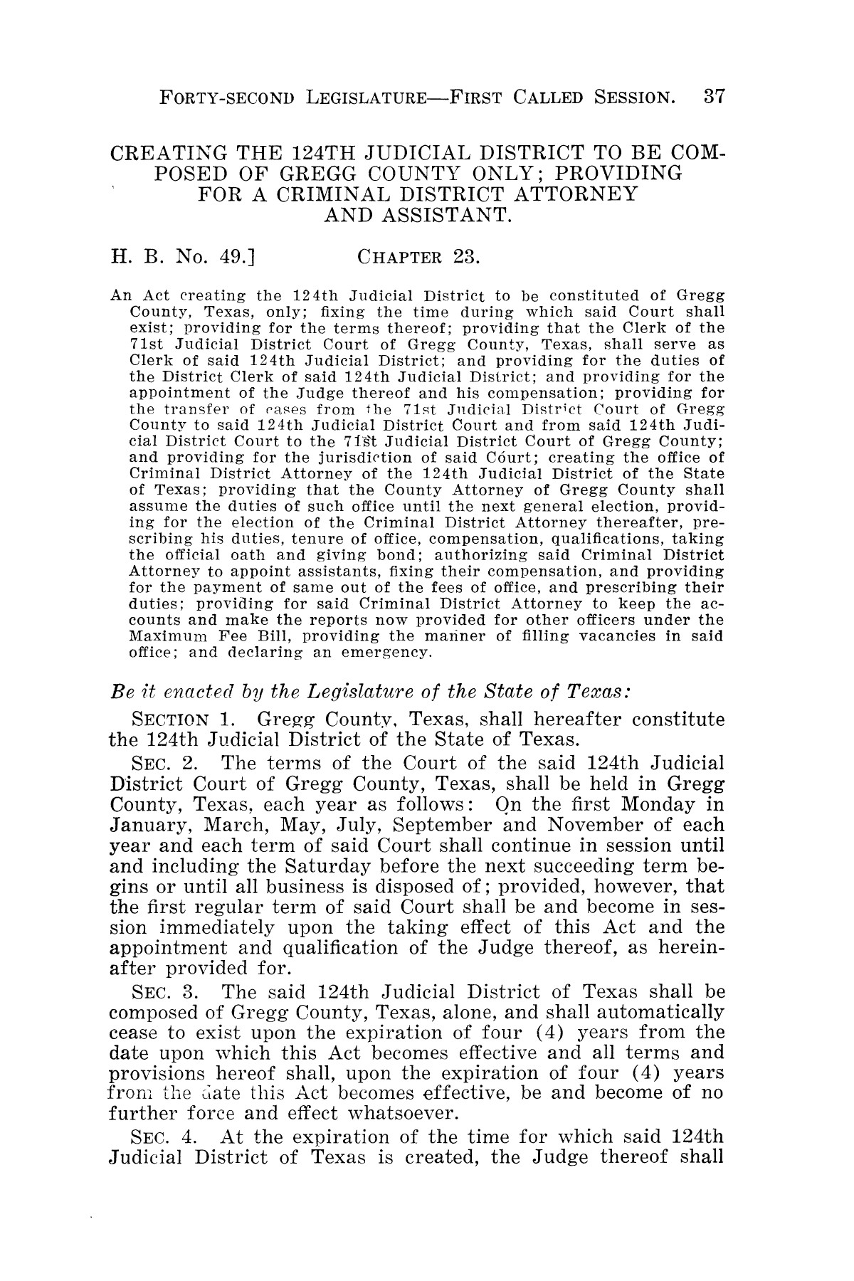 The Laws of Texas, 1931-1933 [Volume 28]                                                                                                      [Sequence #]: 45 of 2111