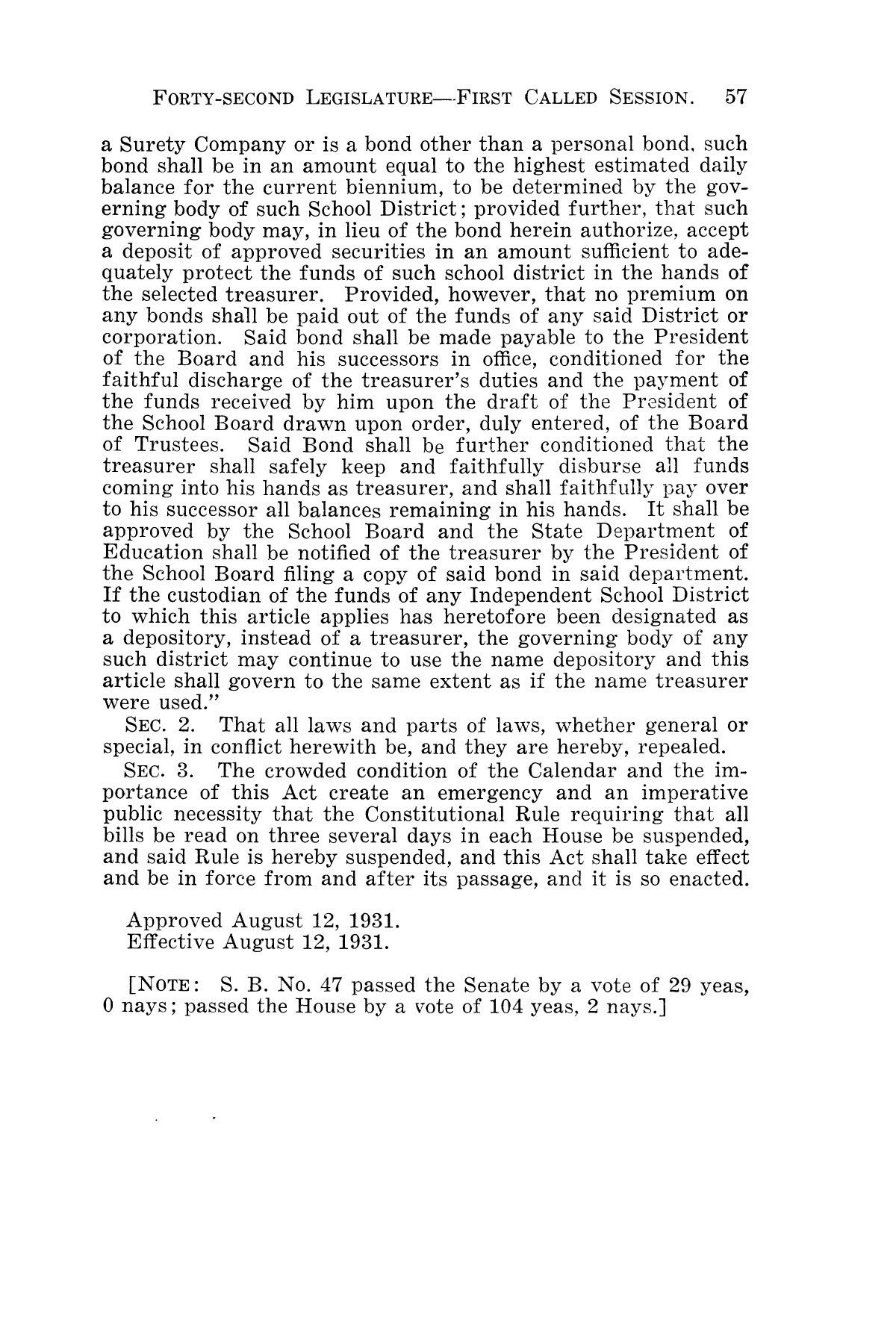 The Laws of Texas, 1931-1933 [Volume 28]                                                                                                      [Sequence #]: 65 of 2111