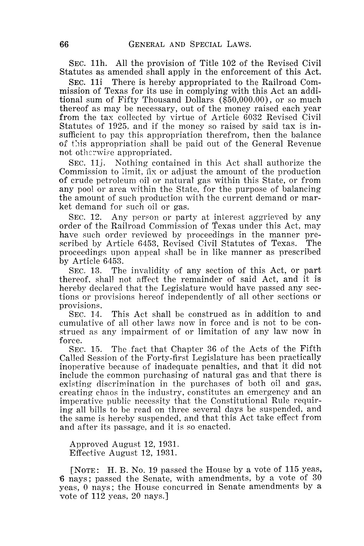 The Laws of Texas, 1931-1933 [Volume 28]                                                                                                      [Sequence #]: 74 of 2111