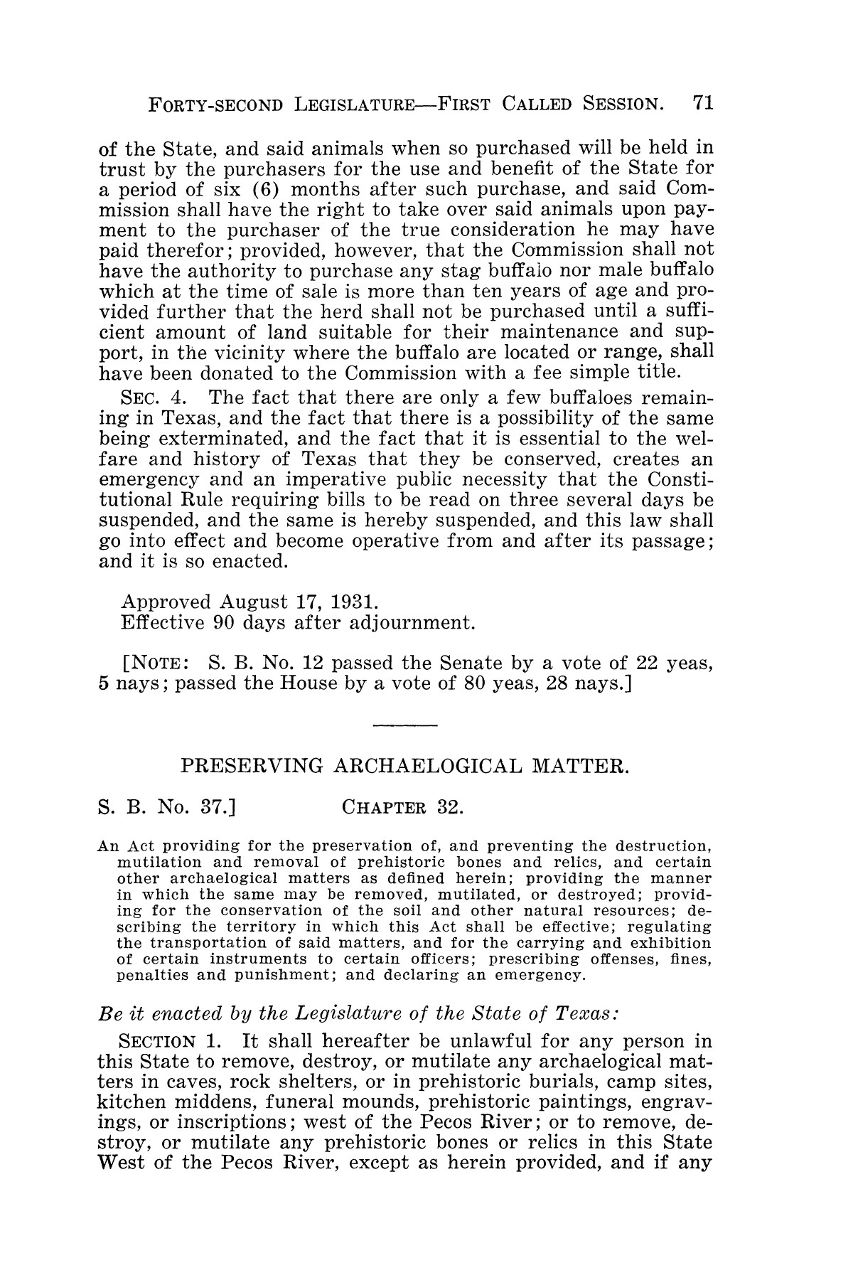 The Laws of Texas, 1931-1933 [Volume 28]                                                                                                      [Sequence #]: 79 of 2111