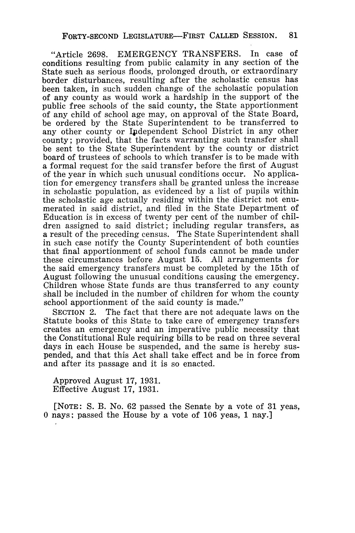 The Laws of Texas, 1931-1933 [Volume 28]                                                                                                      [Sequence #]: 89 of 2111