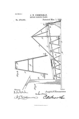 Primary view of object titled 'Refuse-Carrier Frame.'.