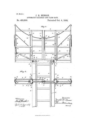 Primary view of object titled 'Automatic Railroad or Farm Gate.'.