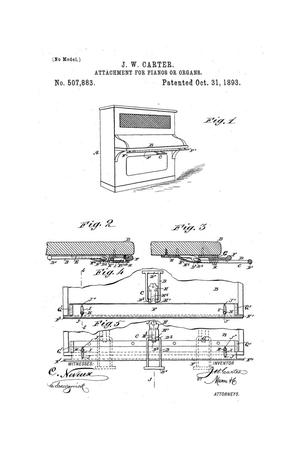 Primary view of object titled 'Attachment for Pianos or Organs.'.