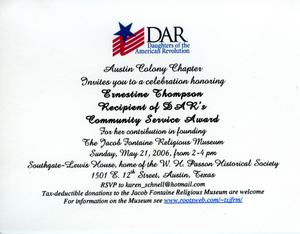 DAR honors Ernestine Thompson