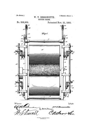 Primary view of object titled 'Cotton-Press.'.