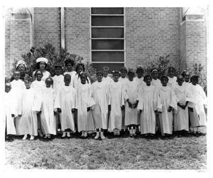 Primary view of object titled 'Ebenezer Baptist Church - Children's Choir'.