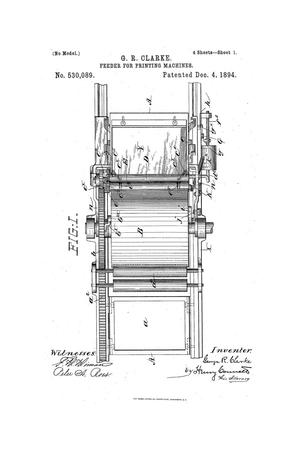Primary view of object titled 'Feeder for Printing-Machines.'.