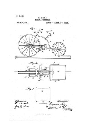Primary view of object titled 'Railway-Bicycle.'.