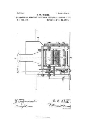 Primary view of object titled 'Apparatus for Removing Cores from Cylindrical Cotton-Bales.'.