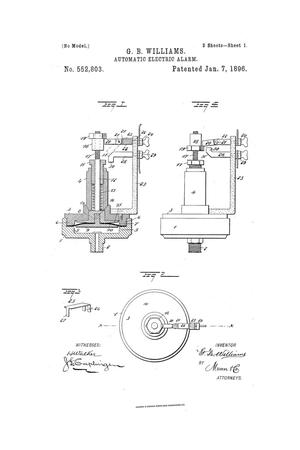 Primary view of object titled 'Automatic Electric Alarm.'.