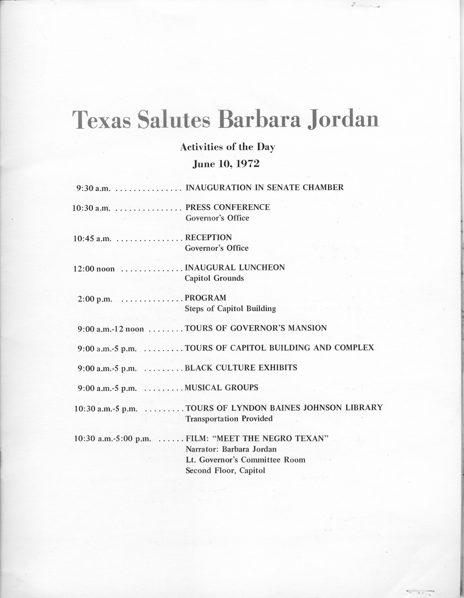 Barbara Jordan - Governor of Texas for a day - June 10, 1972                                                                                                      [Sequence #]: 3 of 8