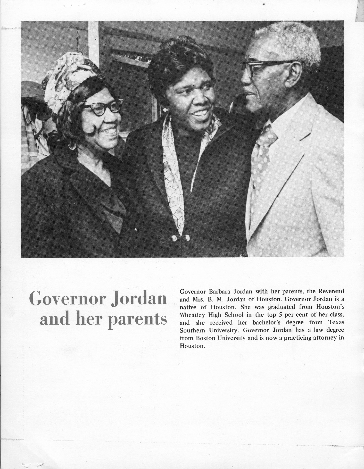 Barbara Jordan - Governor of Texas for a day - June 10, 1972                                                                                                      [Sequence #]: 6 of 8