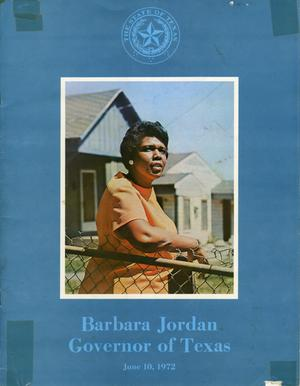 Barbara Jordan - Governor of Texas for a day - June 10, 1972