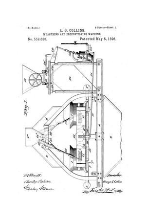 Primary view of object titled 'Measuring and Proportioning Machine.'.