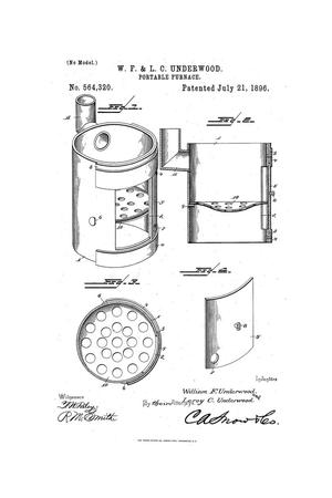 Primary view of object titled 'Portable Furnace.'.