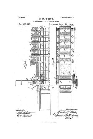 Primary view of object titled 'Mattress-Stuffing Machine.'.
