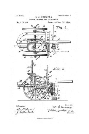 Primary view of object titled 'Cotton Chopper and Cultivator.'.