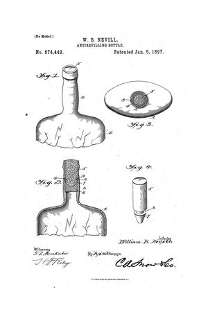 Primary view of object titled 'Antirefilling Bottle.'.