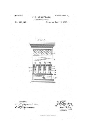 Primary view of object titled 'Thread-Cabinet.'.