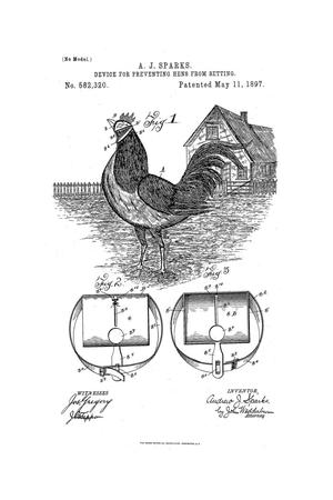 Primary view of object titled 'Device for Preventing Hens from Setting.'.