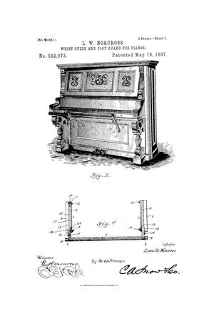 Primary view of object titled 'Wrist-Guide and Foot-Guard for Pianos.'.