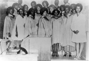 Primary view of object titled 'First Baptist Church - Choir, 1972'.