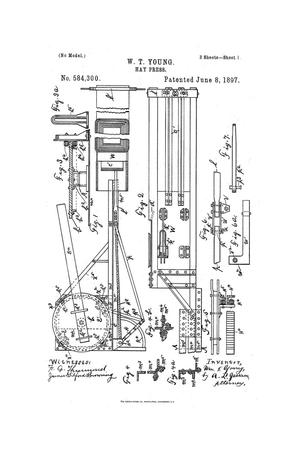 Primary view of object titled 'Hay-Press.'.